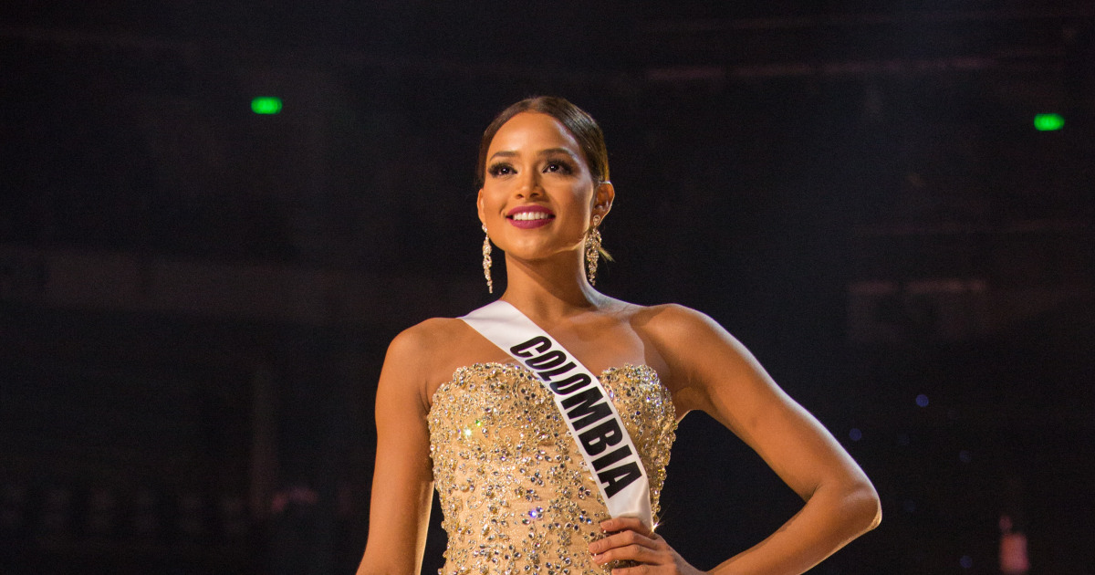 Andrea Tovar, Miss Colombia 2016 competes on stage in her evening gown during the 65th MISS UNIVERSE® Preliminary Competition at the Mall of Asia Arena on Thursday, January 26, 2017.  The contestants have been touring, filming, rehearsing and preparing to compete for the Miss Universe crown in the Philippines.  Tune in to the FOX telecast at 7:00 PM ET live/PT tape-delayed on Sunday, January 29, live from the Philippines to see who will become Miss Universe. HO/The Miss Universe Organization
