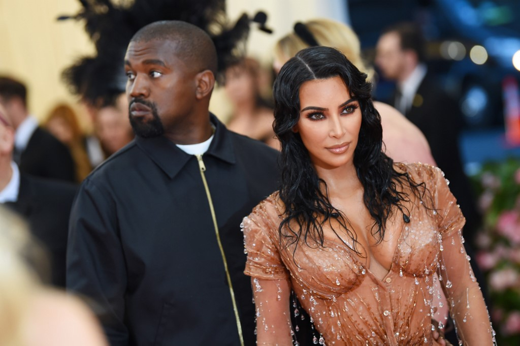 NEW YORK, NEW YORK - MAY 06: Kim Kardashian West and Kanye West attend The 2019 Met Gala Celebrating Camp: Notes on Fashion at Metropolitan Museum of Art on May 06, 2019 in New York City.   Dimitrios Kambouris/Getty Images for The Met Museum/Vogue/AFP