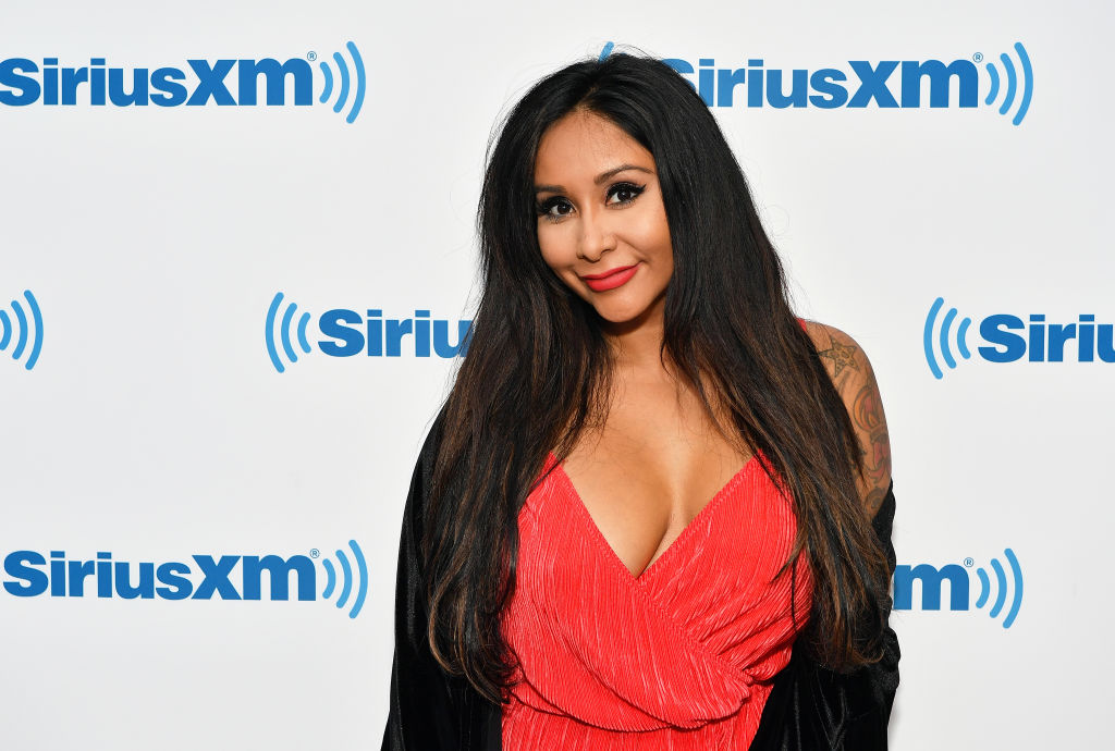 NEW YORK, NY - OCTOBER 04:  (EXCLUSIVE COVERAGE) TV personality Nicole ÒSnookiÓ Polizzi visits SiriusXM Studios on October 4, 2018 in New York City.  (Photo by Slaven Vlasic/Getty Images)