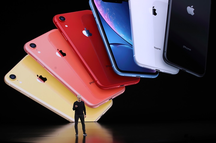 CUPERTINO, CALIFORNIA - SEPTEMBER 10: Apple CEO Tim Cook announces the new iPhone 11 as he delivers the keynote address during a special event on September 10, 2019 in the Steve Jobs Theater on Apple's Cupertino, California campus. Apple unveiled new products during the event.   Justin Sullivan/Getty Images/AFP