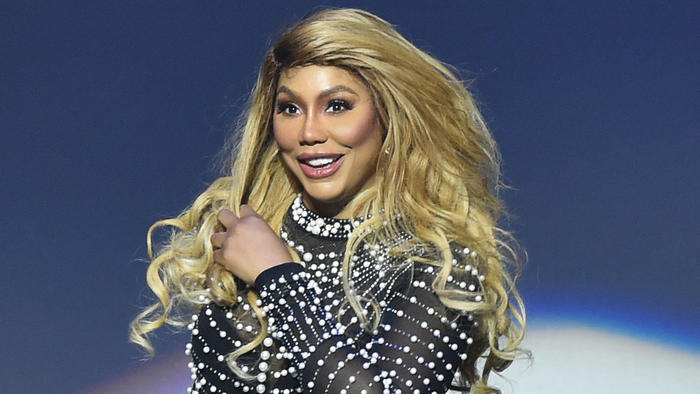DETROIT, MICHIGAN - MAY 30: Singer Tamar Braxton performs on stage at The Soundboard, Motor City Casino on May 30, 2019 in Detroit, Michigan. (Photo by Aaron J. Thornton/Getty Images)
