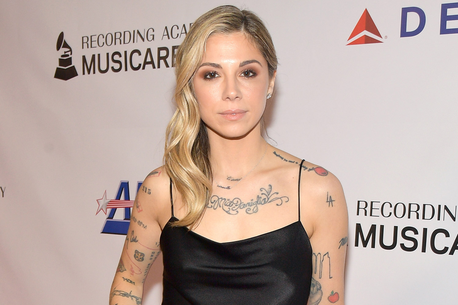 LOS ANGELES, CA - FEBRUARY 08:  Christina Perri attends MusiCares Person of the Year honoring Dolly Parton at Los Angeles Convention Center on February 8, 2019 in Los Angeles, California.  (Photo by Matt Winkelmeyer/Getty Images for The Recording Academy)
